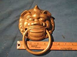 foo dog door knocker brass foo dog door knocker ebay