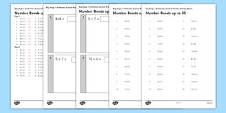 ks1 arithmetic content practice activity sheet pack number bonds