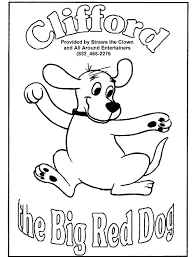 clifford coloring pages all around fun page