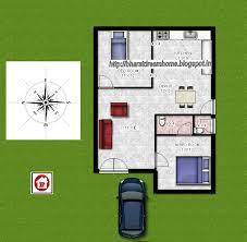 bharat dream home 2 bedroom floorplan 700 sq ft west facing