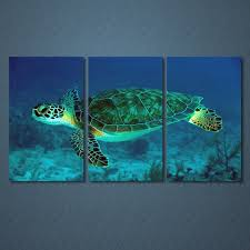 compare prices on turtle canvas art online shopping buy low price 3 pieces sets canvas art canvas paintings 3 panels turtle underwater decorations for home wall