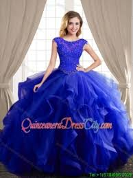 blue quinceanera dresses wonderful beaded and ruffled royal blue quinceanera dress with