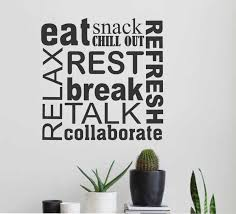 breakroom collage break room decal vinyl wall lettering