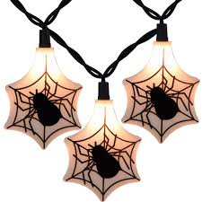 orange green purple halloween string lights 50 lights