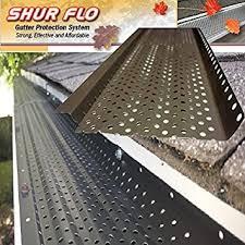 200 shur flo x leaf guard gutter protector for 5 k style
