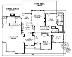 corner lot floor plans craftsman house plan 5 bedrooms 4 bath 3839 sq ft plan 7 532