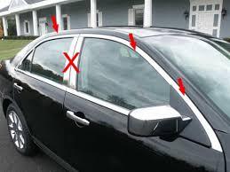 2007 Lincoln Mkx Interior Lincoln Mkz Chrome Window Trim Package No Pillars 2007 2008