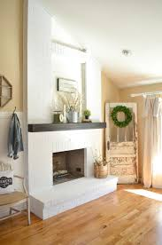 How To Decorate A Living Room With A Red Brick Fireplace How To Paint A Brick Fireplace Little Vintage Nest