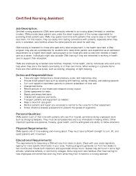 Nurse Aide Resume Objective Certified Nursing Assistant Resume Objective Description Essay