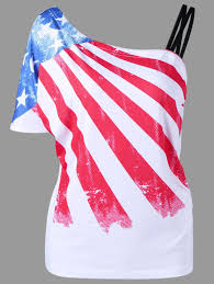 Saipan Flag 2018 Skew Collar American Flag T Shirt White M In Tees U0026 T Shirts