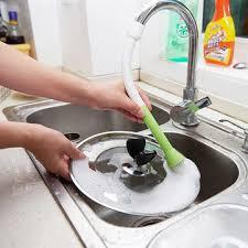 cleaning kitchen faucet water saving faucet cleaning brush filter vegetable washing brush