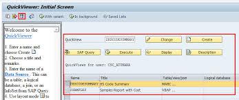 sap t code description table reassign custom t code to sqvi report