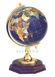 Small Desk Globe Small Lapis Blue Gem Globe With Wood Base