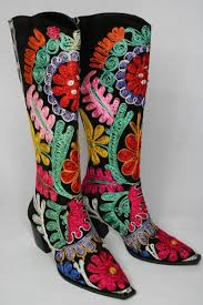 buy boots boots embroidered suzani boots to buy fashion