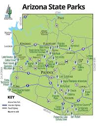 map of az arizona state parks map