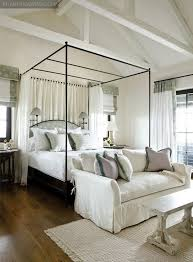 solid wood four poster bed interior design