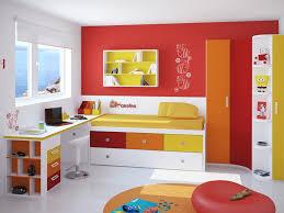 Contemporary Kids Bedroom Furniture Kids Room Beautiful Blue Yellow Wood Glass Luxury Design