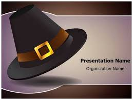 thanksgiving pilgrim hat powerpoint template background