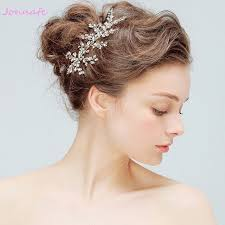 bridal hair clip jonnafe new fashion gold wedding hair vine accessories
