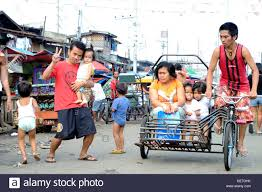 pedicab philippines pedicab at carbon market downtown cebu city philippines stock