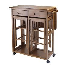 winsome space saver 3 piece small table with 2 nesting stools