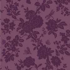 B Q Bedroom Wallpaper Nina Purple Floral Wallpaper Departments Diy At B U0026q