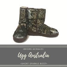ugg shoes australia brown boots poshmark ugg shoes australia brown mermaid sparkle boot sz9 poshmark