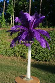Ostrich Feathers For Centerpieces by Purple Ostrich Feather Centerpieces For Wedding