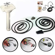 how to snake a bathroom sink sink snake drain hair removal tool plumber s quality amazon co