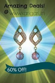 karigari earrings fashion personified with karigari fashion imitation artificial