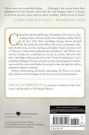 Nancy Reagan Signature Amazon Com The Notes Ronald Reagan U0027s Private Collection Of