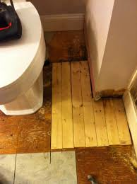 bathroom water damage and floor rot temporary fix mojobudgie com