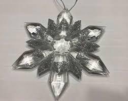 plastic snowflake etsy