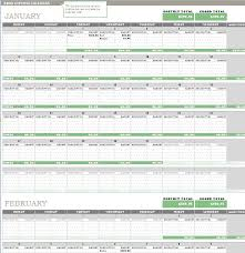 any year expense calendar template formal word templates