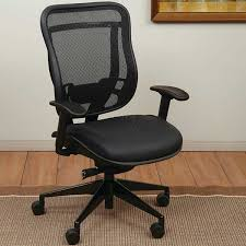 Leather High Back Armchair Space Executive High Back Chair With Leather Seat And Mesh Back