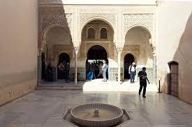 chambre du conseil patio mexuar cour de la chambre du conseil à alhambra gra