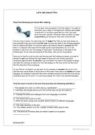 film genres worksheet free esl printable worksheets made by teachers