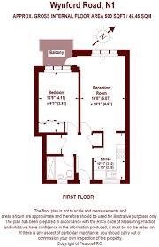 500 Sqft 1 Bedroom Apartment For Sale In Wynford Road London N1 N1