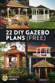 Cool Ideas When Building A 22 Free Diy Gazebo Plans U0026 Ideas To Build With Step By Step Tutorials