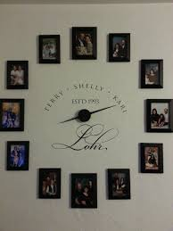 picture frame clock decorating ideas pinterest picture frame