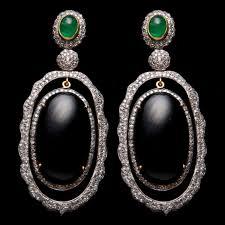 black onyx earrings diamond and black onyx earrings ljer 947 v a u l t the
