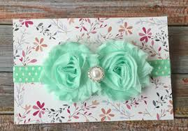 mint green headband easter headband baby headband newborn headband shabby chic headband