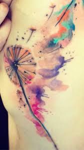 watercolor tattoo dandelion tattoo likes pinterest tattoo