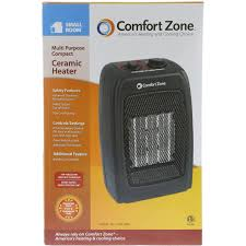 patio heaters walmart comfort zone ceramic heater black cz442wm walmart com