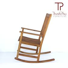 Patio Rocking Chairs Wood Rocking Chair Rockie Thinh Phu Furniture