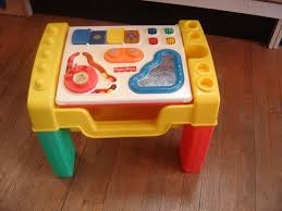 fisher price vintage learning activity table lego table with