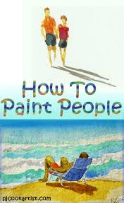 how to paint people how to paint pj and watercolors