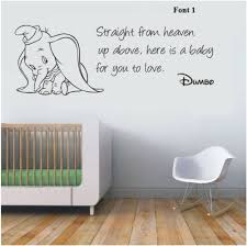 Wall Decor Stickers For Nursery Wall Stickers Dumbo The Elephant From Heaven Vinyl Decal