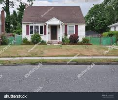 suburban cottage style home dry burnt stock photo 153422081