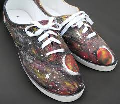 Spray Paint Your Shoes - galaxy shoes vans converse custom shoes planet shoes purple pink